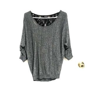 Express Top Sweat Back Lace Opening
